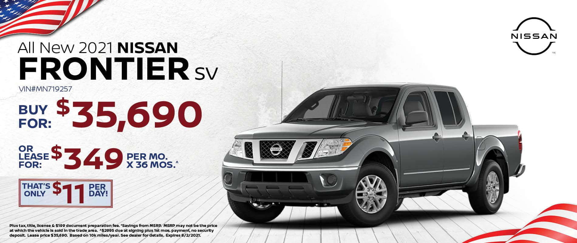 New 2021 Nissan Frontier Special Offer