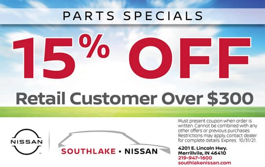 15% off $300 | Southlake Nissan