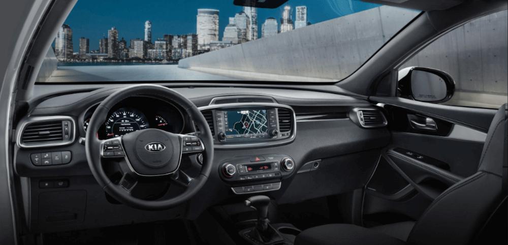2020 Kia Sorento dashboard and steering wheel view