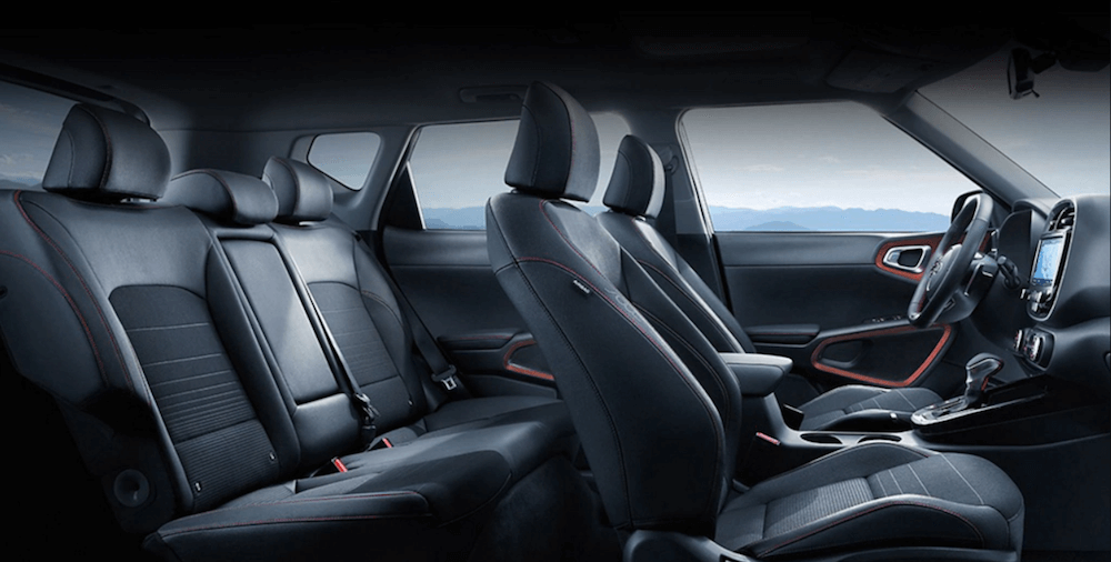 2020 Kia Soul interior cabin cutaway showing seating and storage