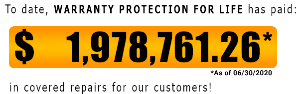 Warranty Protection For Life has paid out $1,978,761.26 as of June-30-2020