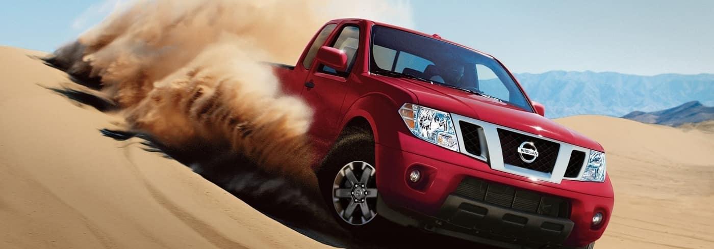 2019 Nissan Frontier in desert