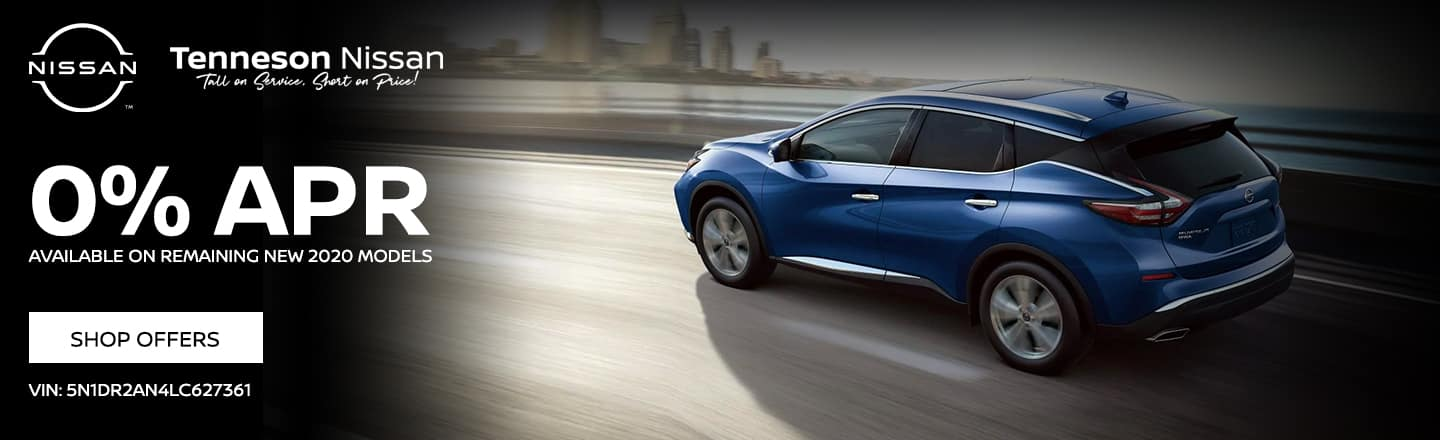 0% APR available on REMAINING NEW 2020 MODELS