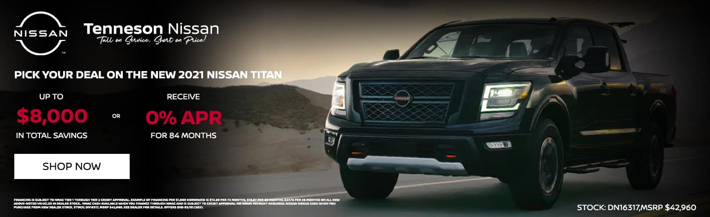 Pick Your Deal on the new 2021 Nissan Titan