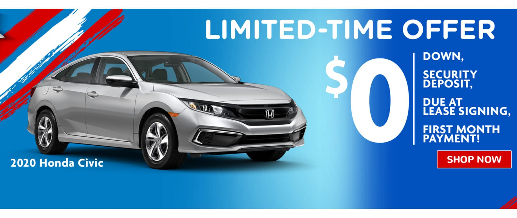 2020 Honda Civic LX Limited Time Offer Lease