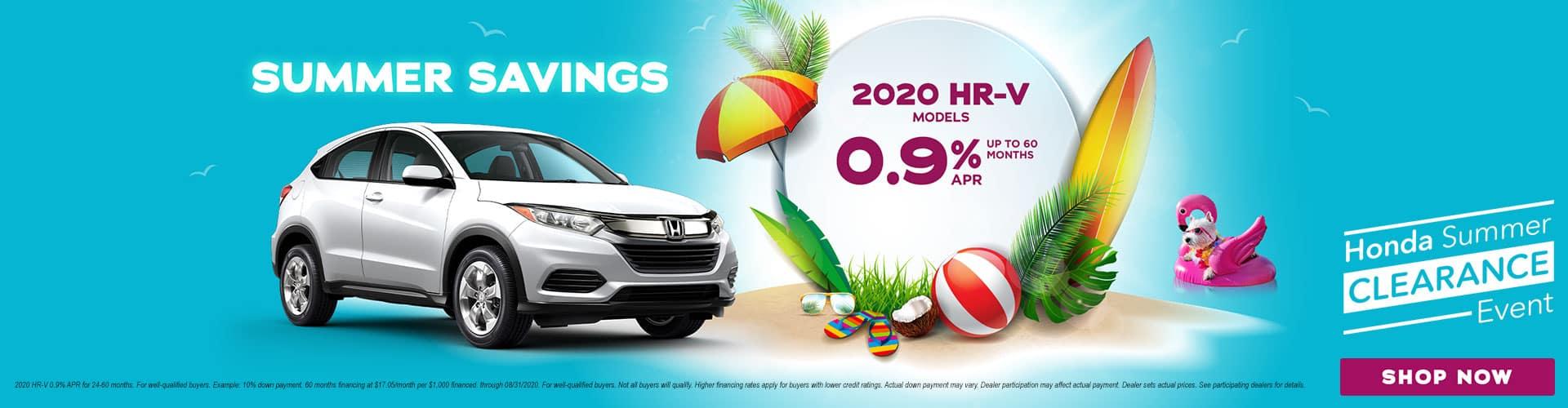 Honda Clearance HRV Shop now