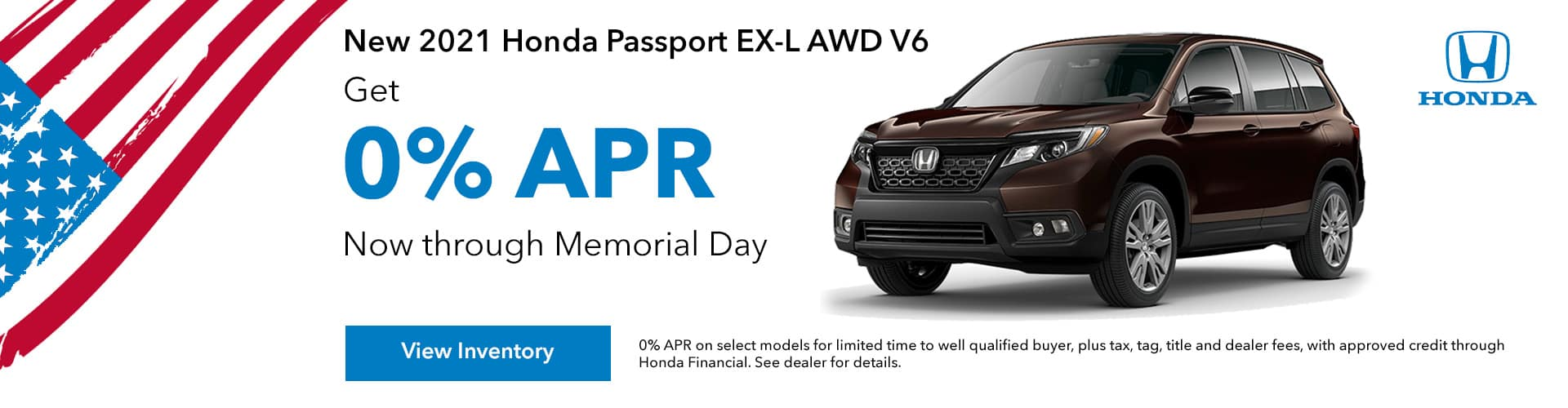 New 2021 Honda Passport 0% APR, Get 0% APR For up to 60 Months