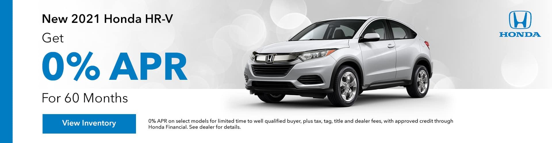 new 2021 Honda HR-V 0% APR, Get 0% APR For up to 60 Months