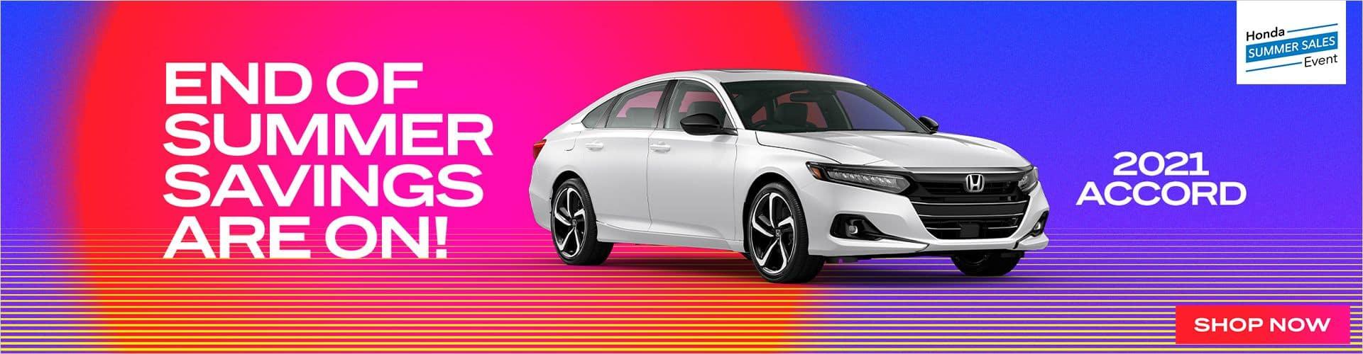 Honda summer sales event_accord