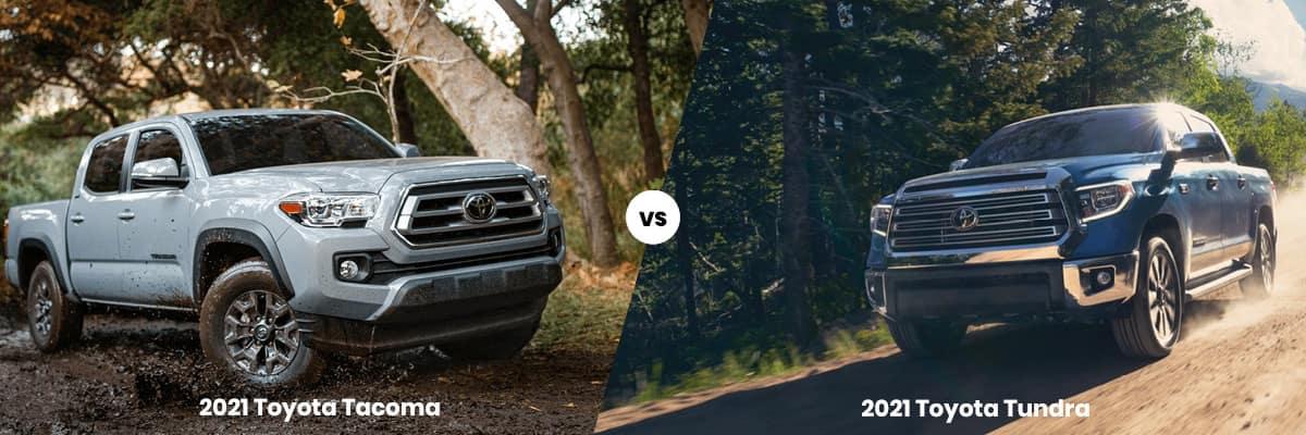 2021 Toyota Tacoma vs 2021 Toyota Tundra