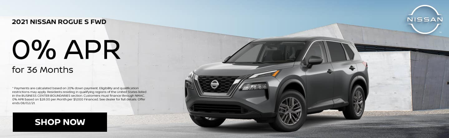 2021 Nissan Rogue S FWD 0% APR for 36 Months