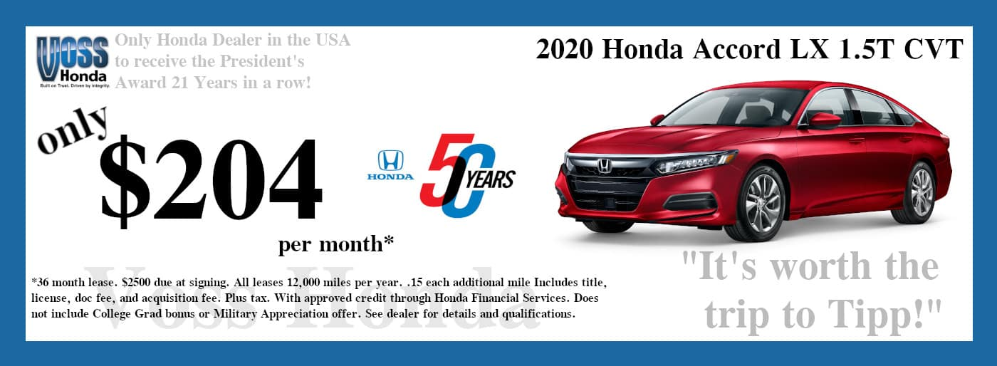 2020 Accord LX Lease Special