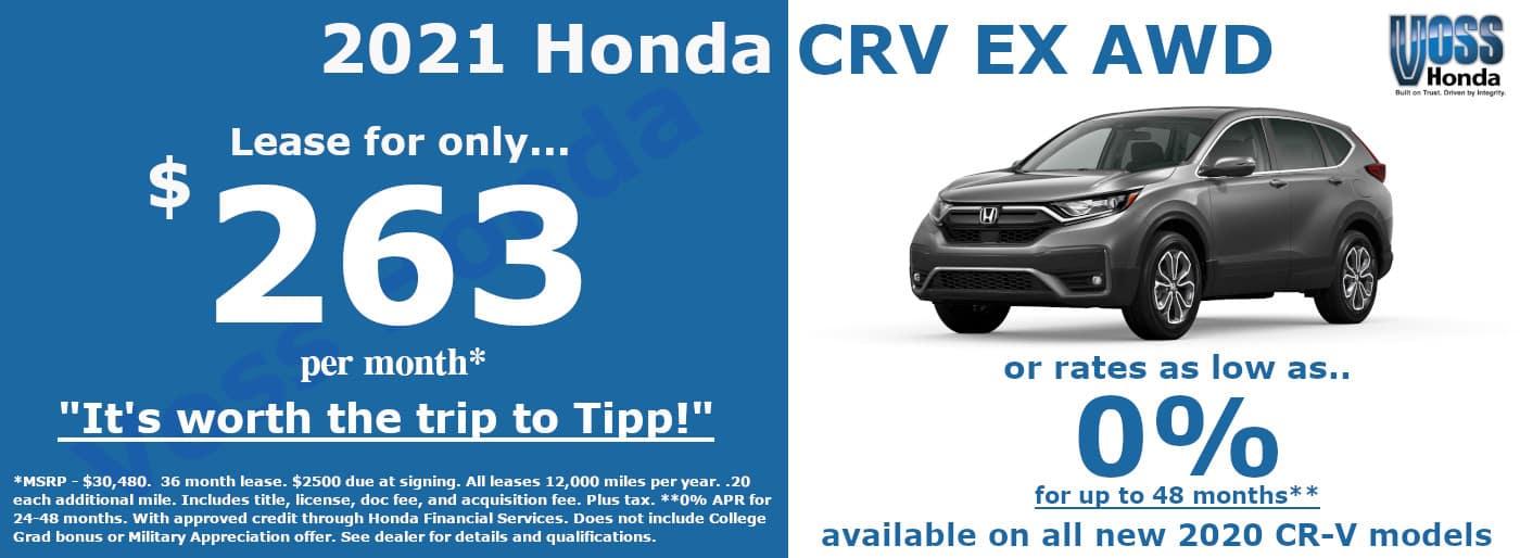2020 Honda CR-V EX Lease Special