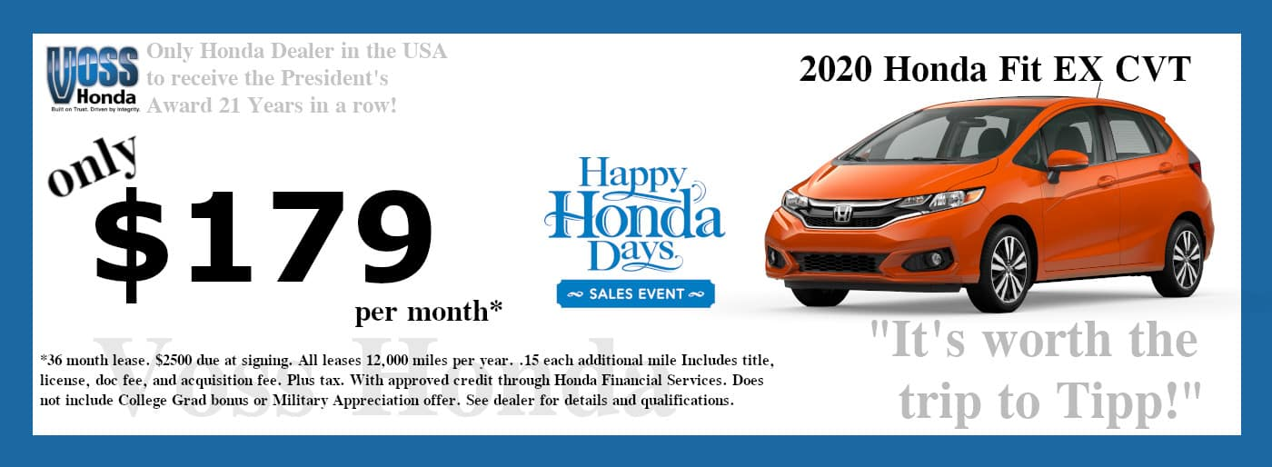 2020 Honda Fit EX Lease Special