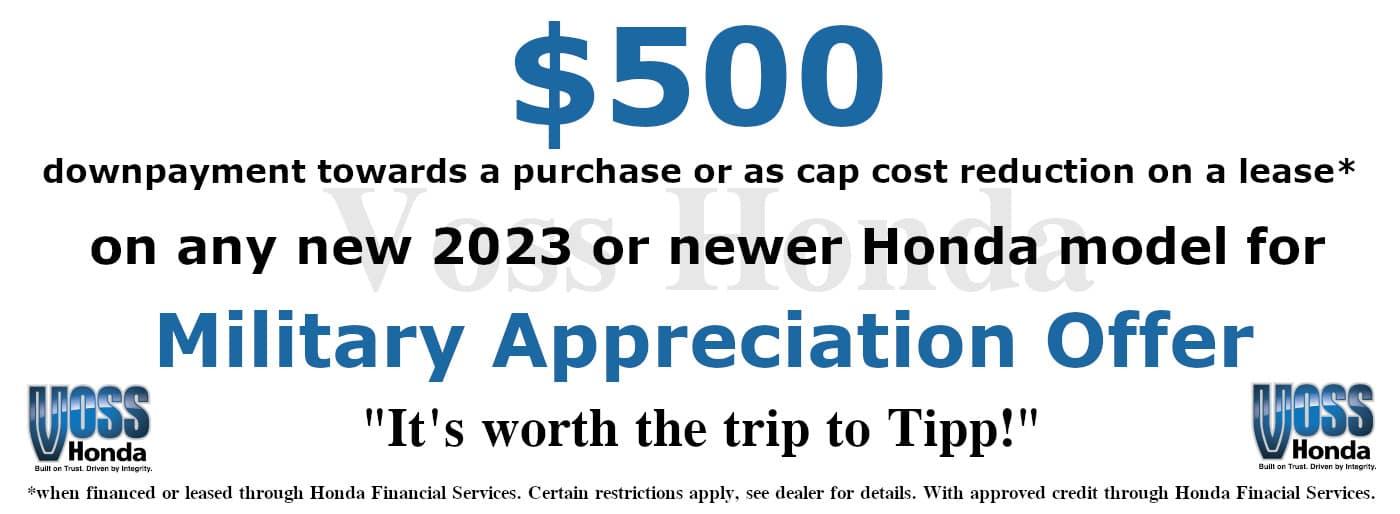 $500 Military Appreciation Offer