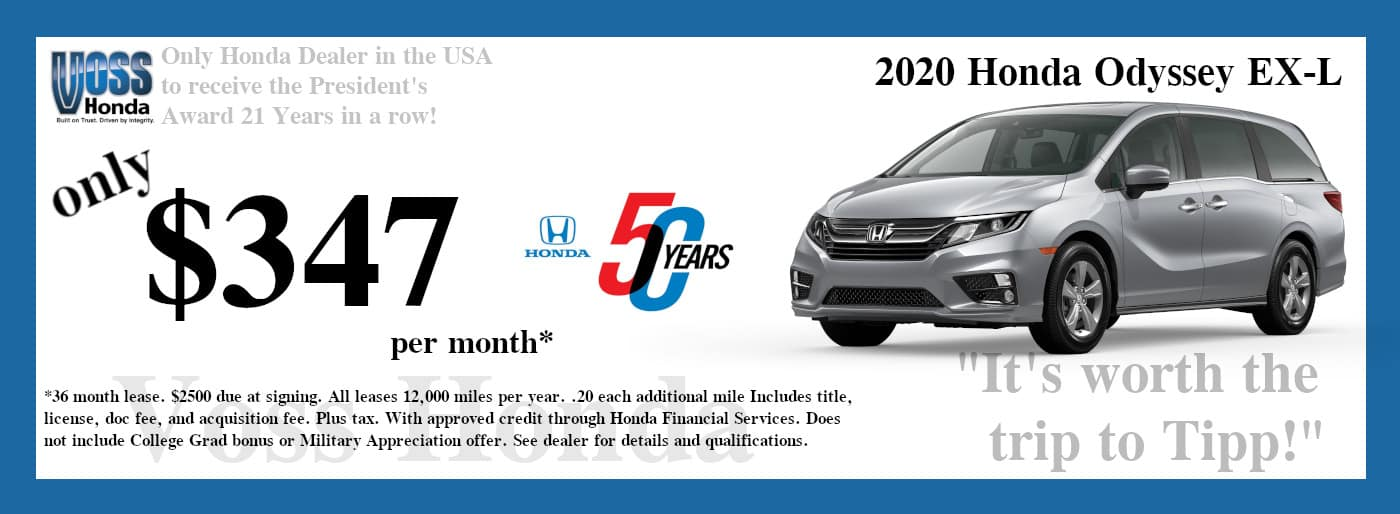 2020 Odyssey EX-L Lease Special