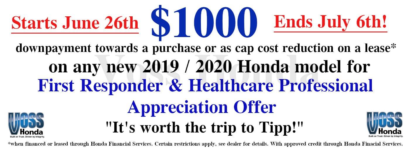 $1000 First Responder Appreciation