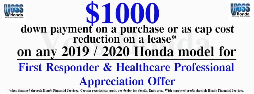 First Responder & Healthcare Professional Appreciation Offer