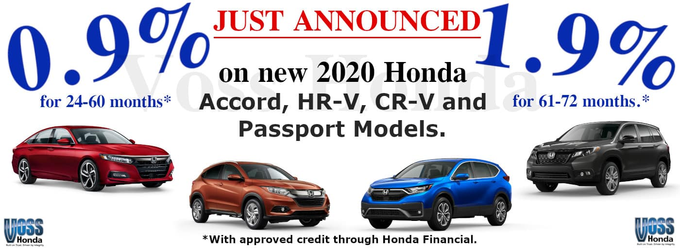 2020 Odyssey, Insight, HRV, and Passport APR Special