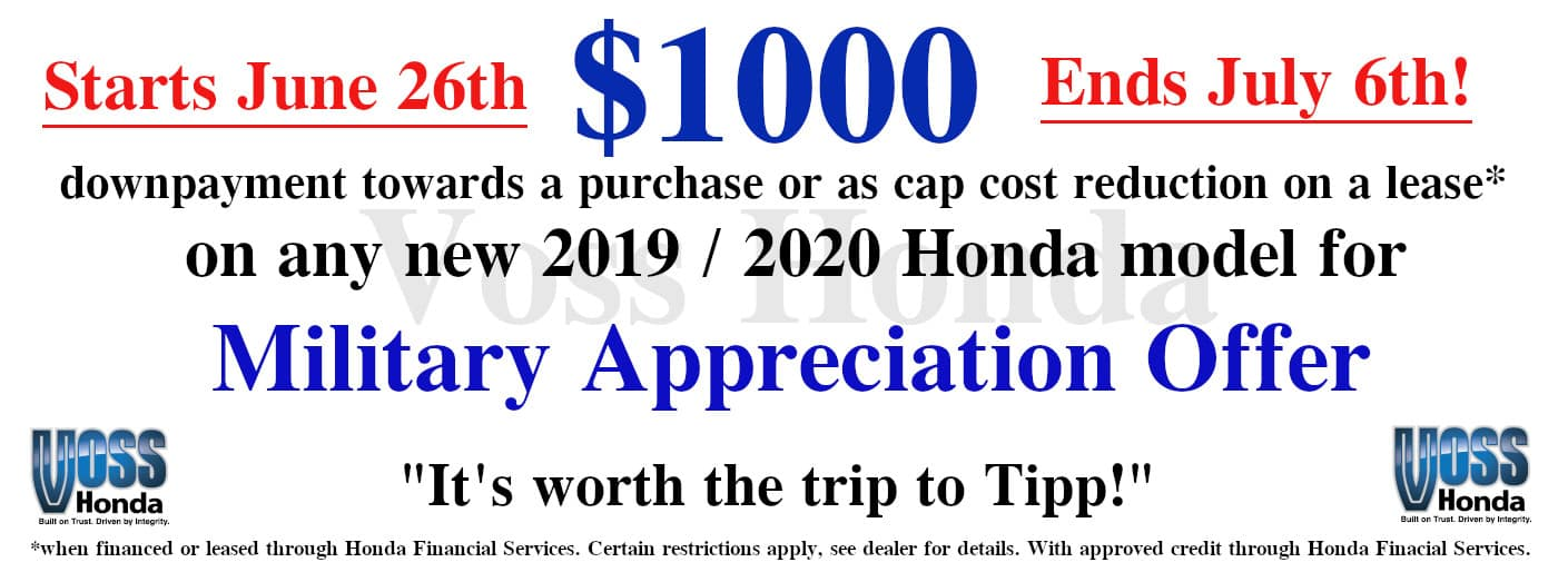 $1000 Military Appreciation Offer