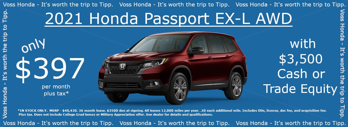 2021 Passport EX-L AWD Lease Special