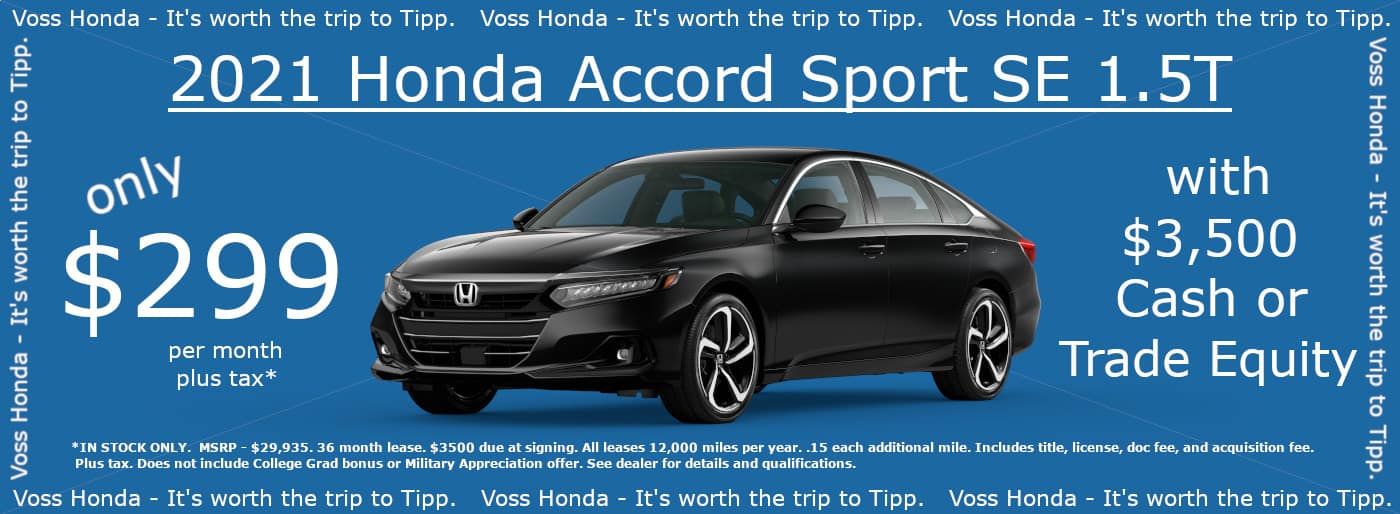 2021 Accord Sport SE 1.5t Lease Special