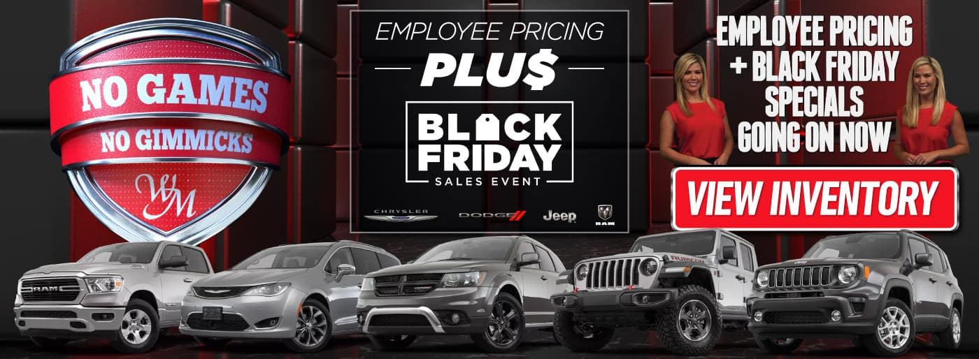 Employee Pricing + Black Friday Specials Going On Now - View Inventory