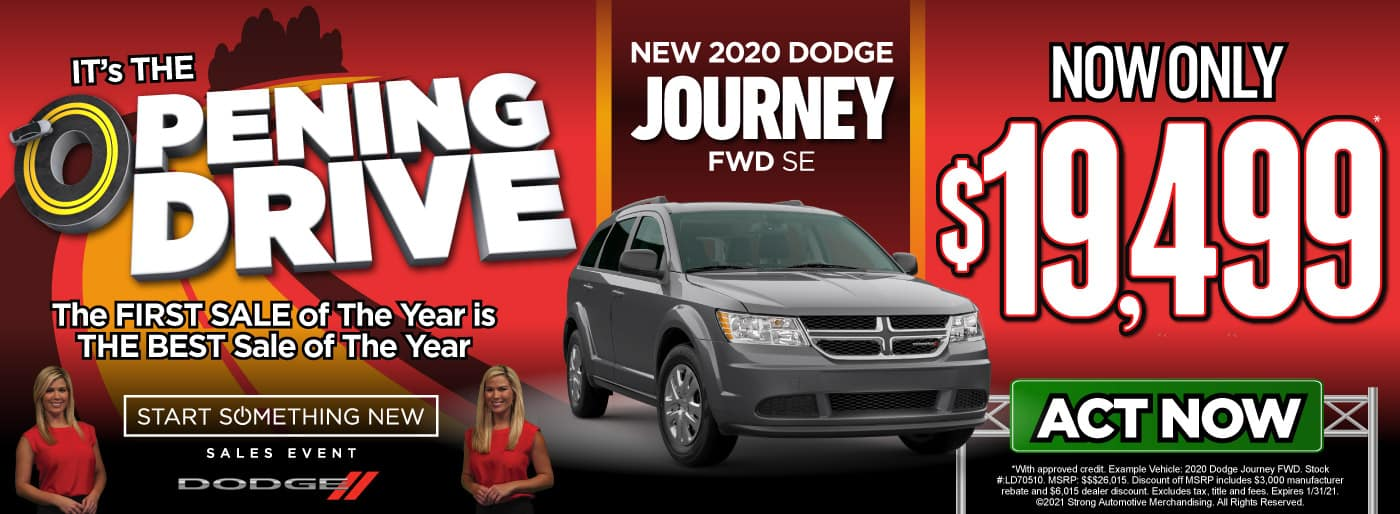 New 2020 Dodge Journey only $19,499 - ACT NOW