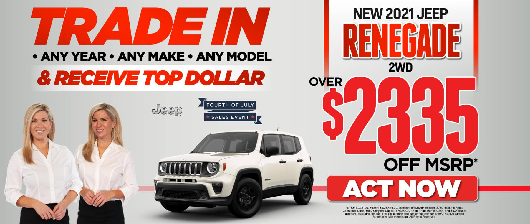 2021 Jeep Renegade: over $2335 off msrp — ACT NOW