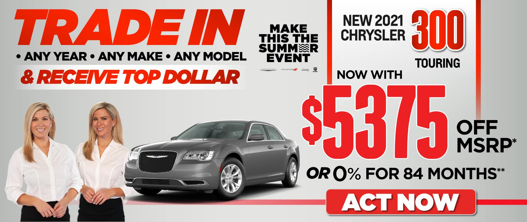 2021 Chrysler 300: over $5375 off msrp — ACT NOW