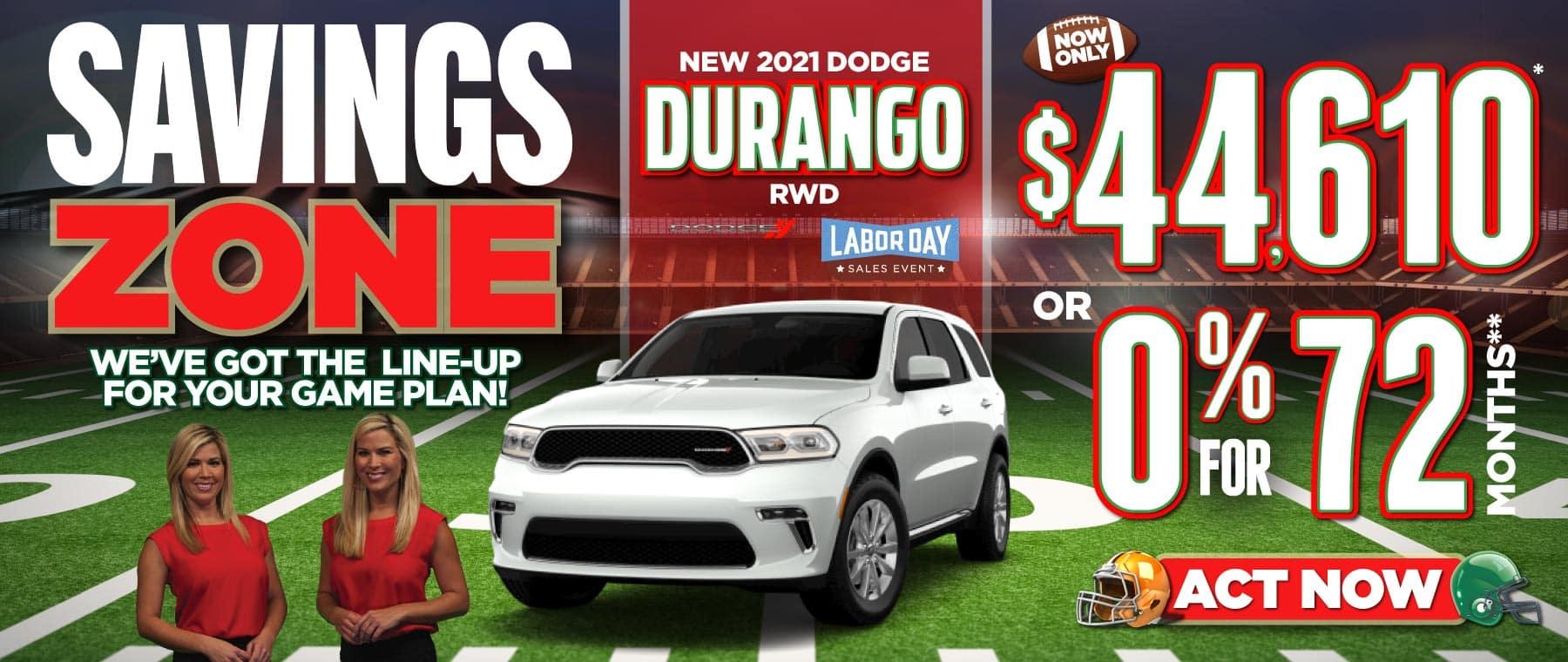 2021 Dodge Durango Now only $44,610   Act Now
