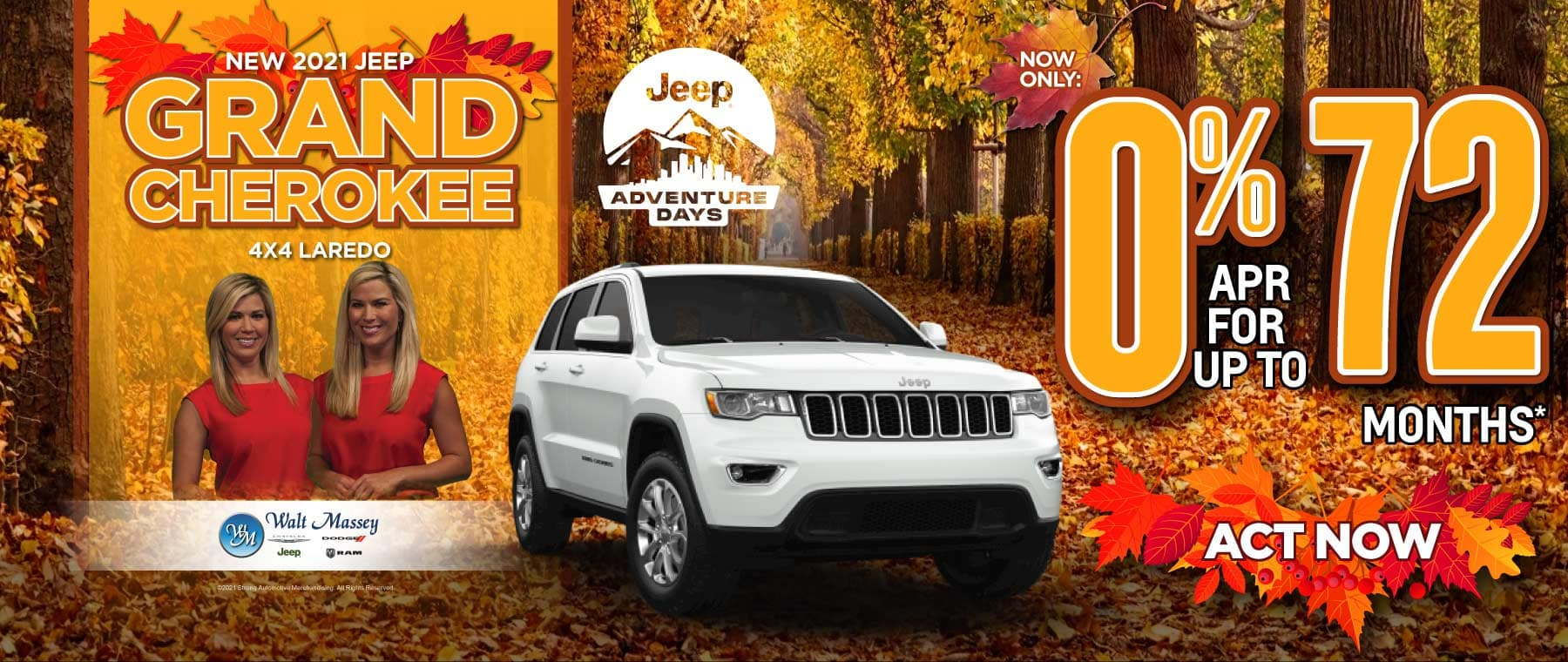 New 2021 Jeep Grand Cherokee now only 0% apr for up to 72 months | Act Now