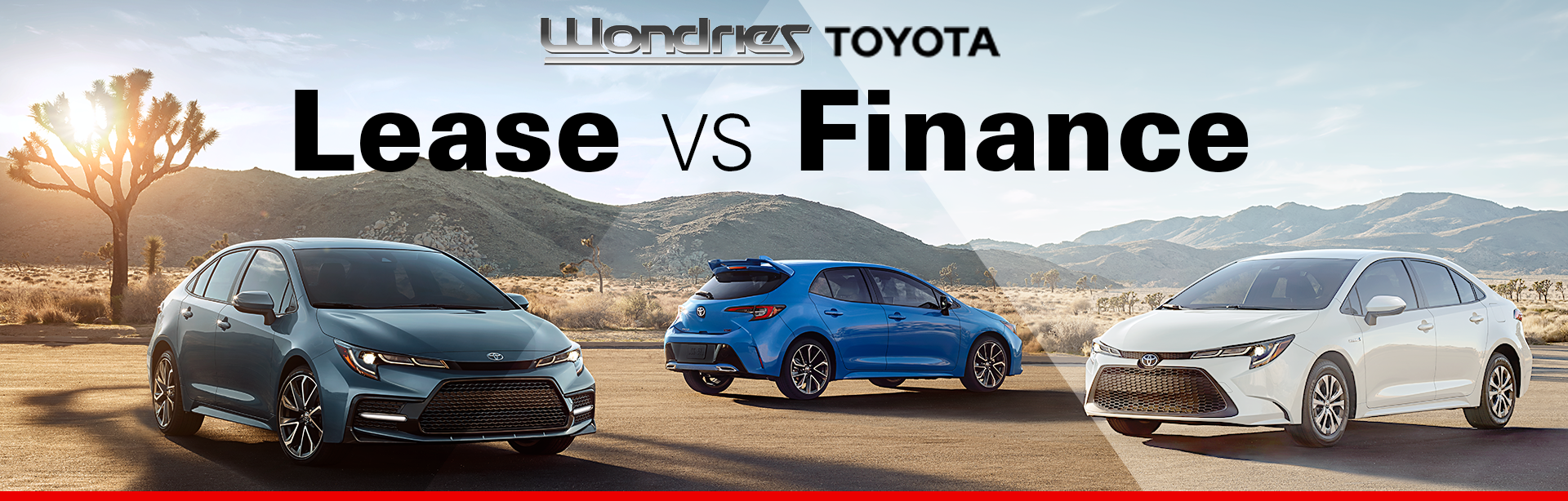 Lease Vs Finance at Wondries Toyota